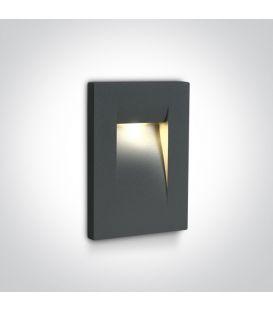 3.6W LED Įmontuojamas šviestuvas Anthracite IP65 3000K 68062/AN/W