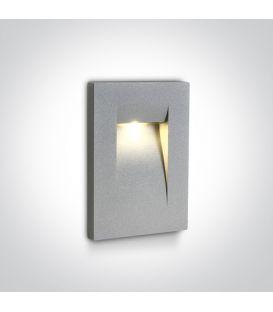 3.6W LED Įmontuojamas šviestuvas Grey IP65 3000K 68062/G/W