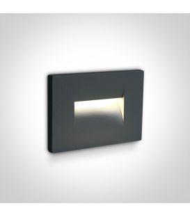 3.6W LED Įmontuojamas šviestuvas Anthracite IP65 3000K 68064/AN/W