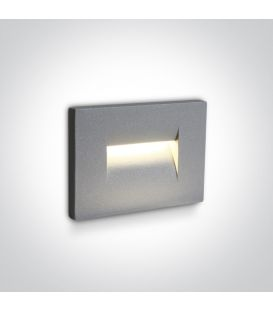 3.6W LED Įmontuojamas šviestuvas Grey IP65 3000K 68064/G/W