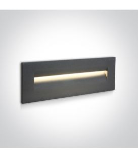 8.5W LED Įmontuojamas šviestuvas Anthracite IP65 3000K 68066/AN/W