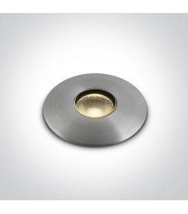 1W LED Įmontuojamas šviestuvas IP67 69042/AL/W