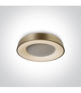 40W LED Lubinis šviestuvas Brass Ø48 62182/BBS/W