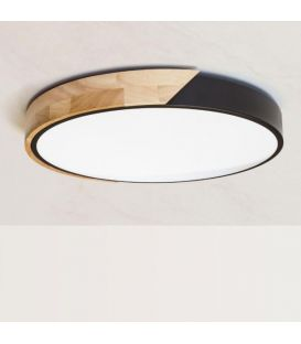 48W LED Lubinis šviestuvas 520/60 Black Ø60 9818