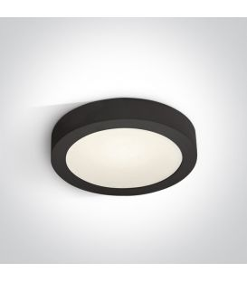 16W LED Paviršinė panelė Black 4000K Ø24 IP40 62115F/B/C