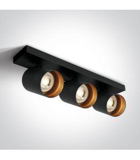 Lubinis šviestuvas RETRO 3 Black 65305N/B