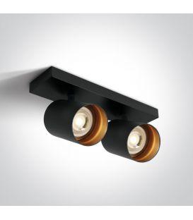 Lubinis šviestuvas RETRO 2 Black 65205N/B