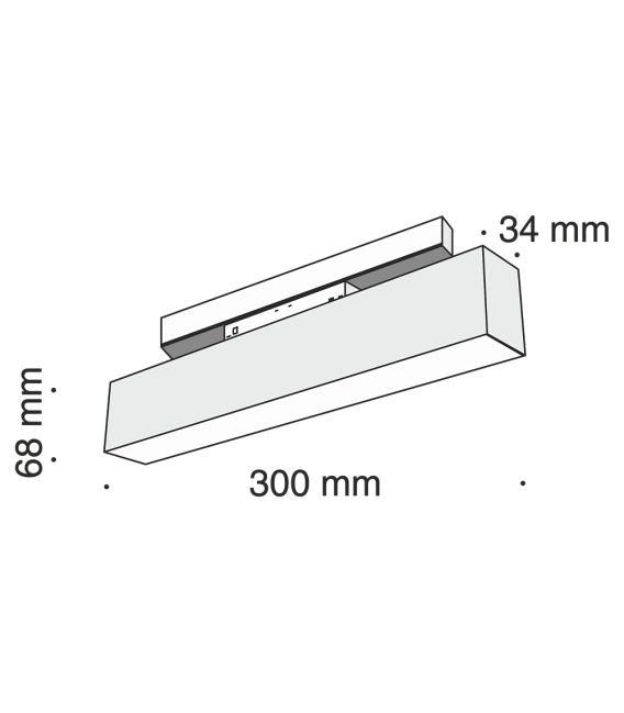 12W LED Magnetinis šviestuvas MAYTONI 3000K TR012-2-12W3K-B