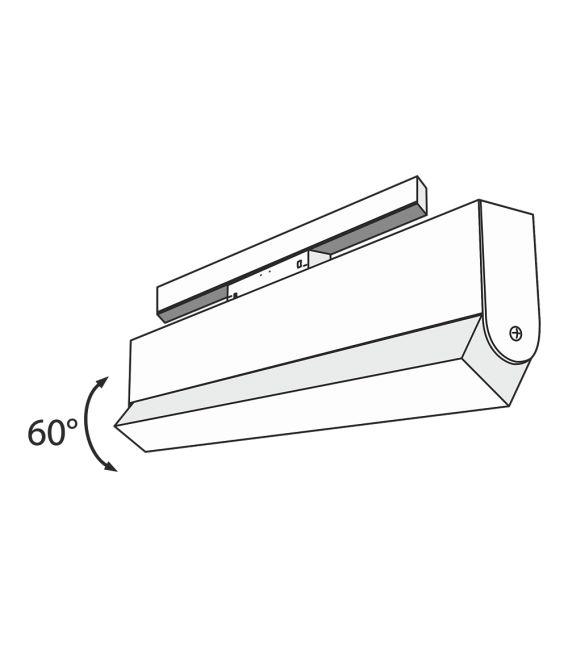 20W LED Magnetinis šviestuvas BASIS 3000K TR013-2-20W3K-B