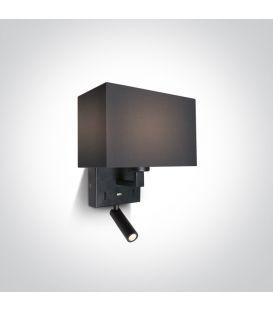 Sieninis šviestuvas Black 61120/B/W