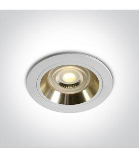 Įmontuojamas šviestuvas DUAL RING White 10105ALG/W/GL