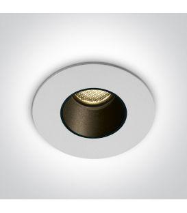 2W LED Įmontuojamas šviestuvas White 3000K IP65 10102H/W/W