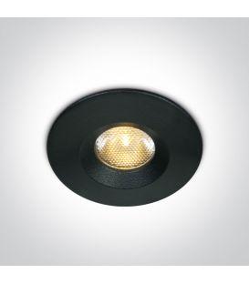 3W LED Įmontuojamas šviestuvas Black 3000K IP65 10103M/B/W