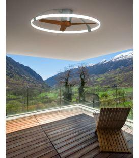 75W LED Šviestuvas su ventiliatoriumi NEPAL Silver Dimeriuojamas 7533