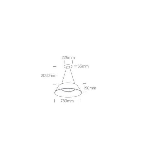60W LED Pakabinamas šviestuvas MUSHROOM Brushed Brown 63058/BBR/W