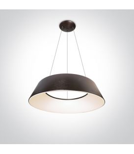 80W LED Pakabinamas šviestuvas MUSHROOM Brushed Brown 63058A/BBR/W