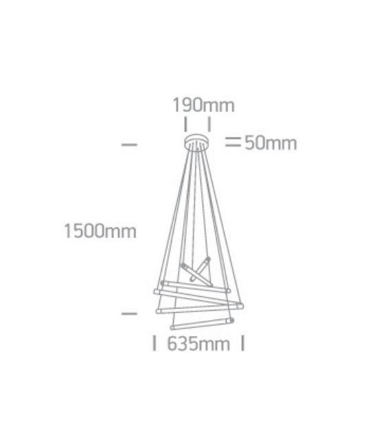 60W LED Pakabinamas šviestuvas MUSHROOM Brushed Brass 63058/BBS/W