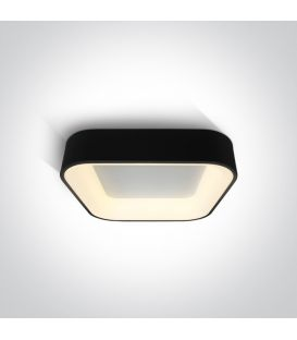 38W LED Lubinis šviestuvas PLAFO Square Black 62132NA/B/W