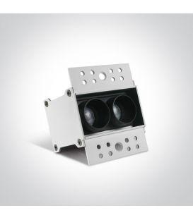 6W LED Įmontuojamas šviestuvas Black 50203ATR/B/W