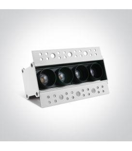 10W LED Įmontuojamas šviestuvas Black 50403ATR/B/W
