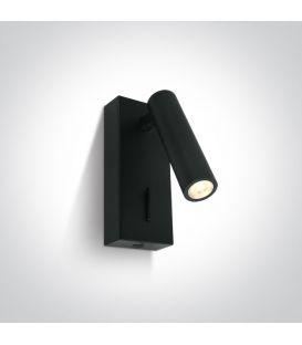 3W LED Sieninis šviestuvas READING Black 65746/B/W