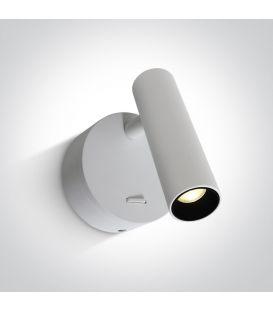 3W LED Sieninis šviestuvas READING White 65738/W/W