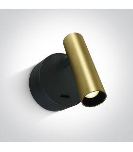 3W LED Sieninis šviestuvas READING Brushed Brass 65738/BBS/W