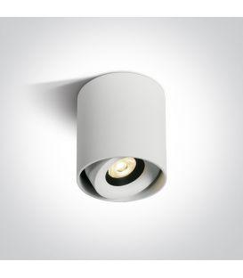 8W LED Lubinis šviestuvas White Ø8 Dimeriuojamas 12108X/W/W