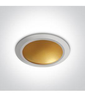 16W LED Įmontuojamas šviestuvas White 10116FD/W/BS