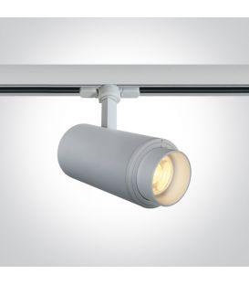 30W LED Šviestuvas bėgeliui ONE LIGHT 3F White 3000K 65650T/W/W