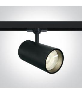 30W LED Šviestuvas bėgeliui ONE LIGHT 3F Black 4000K 65642CT/B/C