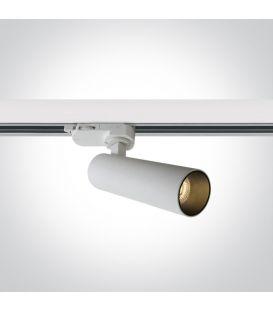 8W LED Šviestuvas bėgeliui ONE LIGHT 3F White 3000K Dimeriuojamas 65108T/W/W