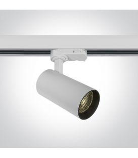 12W LED Šviestuvas bėgeliui ONE LIGHT 3F White 3000K 65524T/W/W