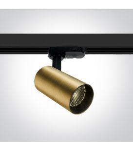 12W LED Šviestuvas bėgeliui ONE LIGHT 3F Brushed Brass 3000K 65524T/BBS/W
