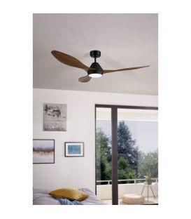 18W LED Šviestuvas su ventiliatoriumi ANTIBES Brown 35073