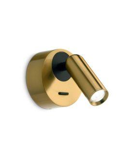 3.5W LED Sieninis šviestuvas BEAN ROUND AP Brass 260624