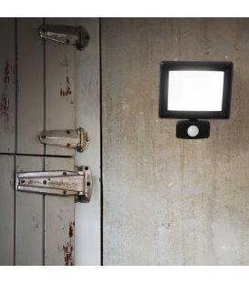 20W LED Šviestuvas su judesio davikliu FLOOD Sensor Black IP65 269092