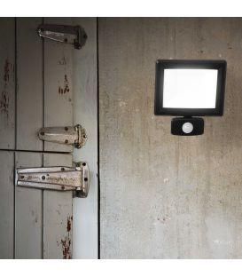 30W LED Šviestuvas su judesio davikliu FLOOD Sensor Black IP65 251011