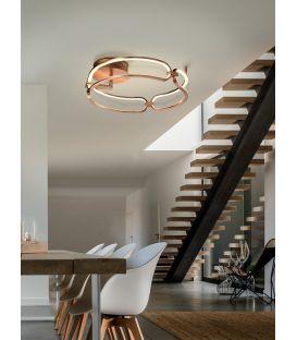 37W LED Pakabinamas šviestuvas COLETTE Rose gold Ø47 786430