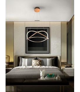45W LED Pakabinamas šviestuvas OCELLIS Rose gold Ø57 757232