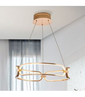 37W LED Pakabinamas šviestuvas COLETTE Rose gold Ø47 Dimeriuojamas 786621