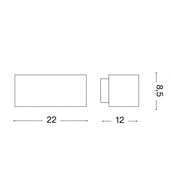 Sieninis šviestuvas ANDROMEDA AP1 White IP55 066868