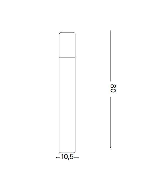 10.5W LED Pastatomas šviestuvas ETERE Coffee IP44 4000K 246956