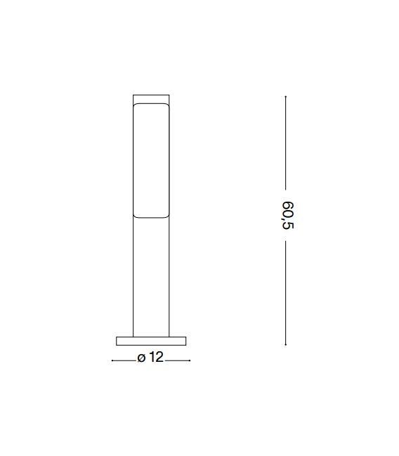 10.5W LED Pastatomas šviestuvas ETERE Anthracite IP44 3000K 246932
