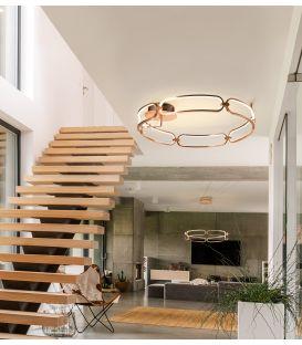 65W LED Lubinis šviestuvas COLETTE Rose gold Ø80 Dimeriuojamas 786508D
