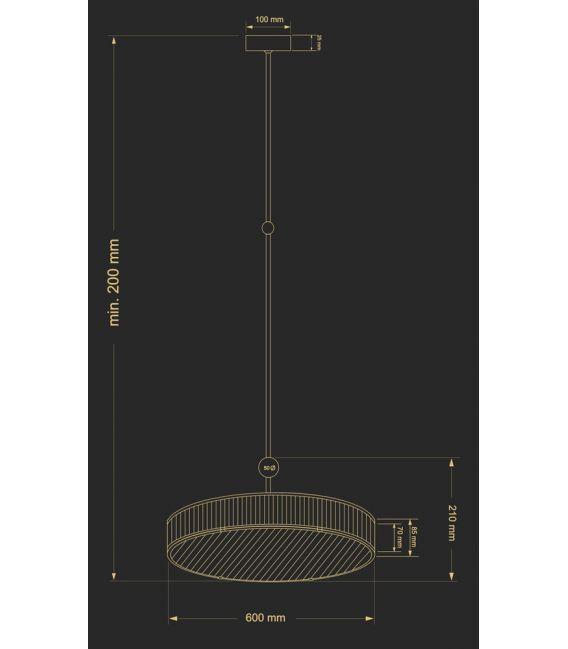 Pakabinamas šviestuvas LAVONE LAV-ZW-6 (P) 600-1/R