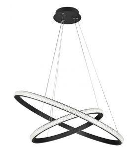 45W LED Pakabinamas šviestuvas NAGER Black dimeriuojamas 9481092