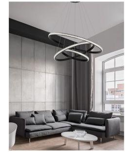 62W LED Pakabinamas šviestuvas NAGER Black dimeriuojamas 9481093