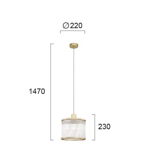 Pakabinamas šviestuvas KAROLINA Gold 4258900