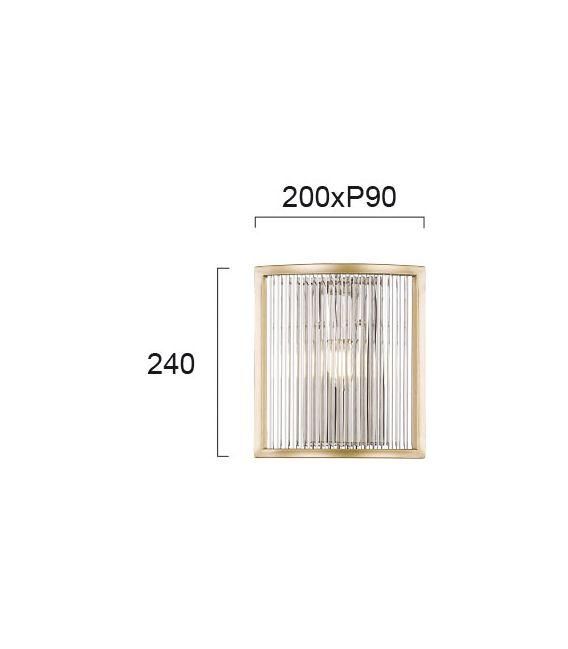 Sieninis šviestuvas KAROLINA Gold 4259000